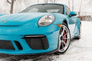 Porsche im Schnee