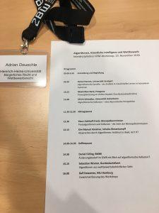 Das Programm der Konferenz über künstliche Intelligenz.