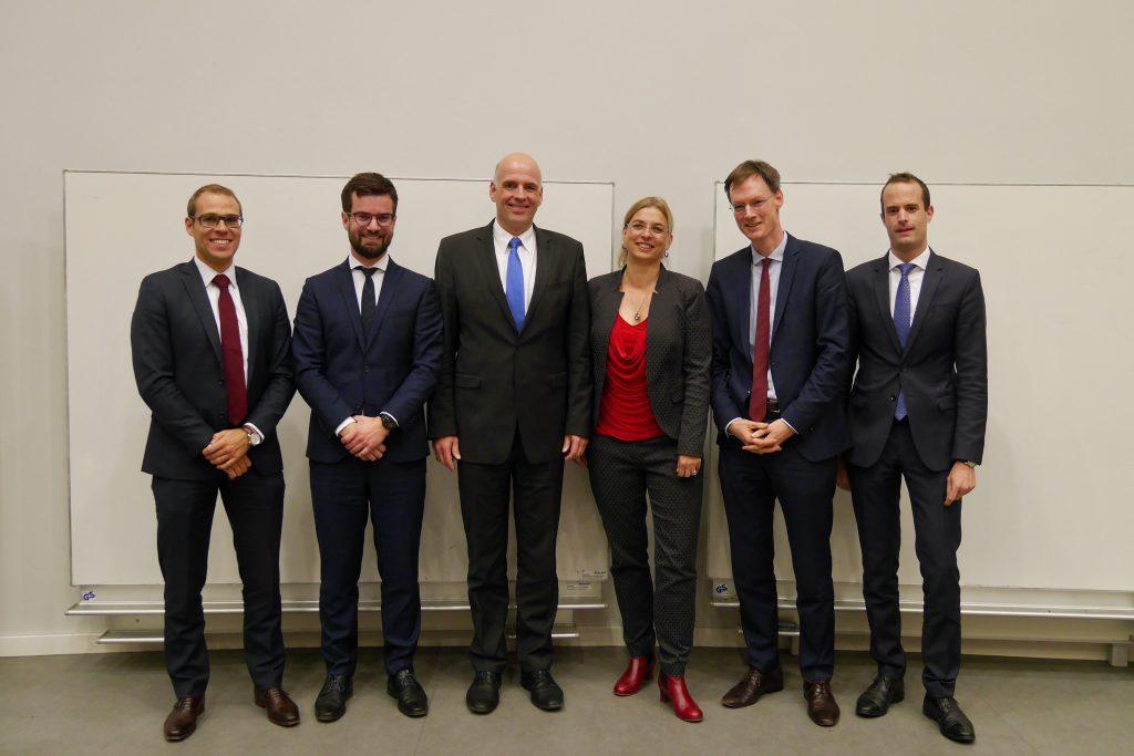v.l.n.r. Jannik Otto, Tobias Brenner, Christian Kersting, Maja Murza, Thorsten Käseberg, Patrick Hauser)